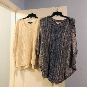Poncho sweaters bundle